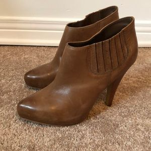 ASH brown leather booties